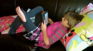 Reading a Kindle